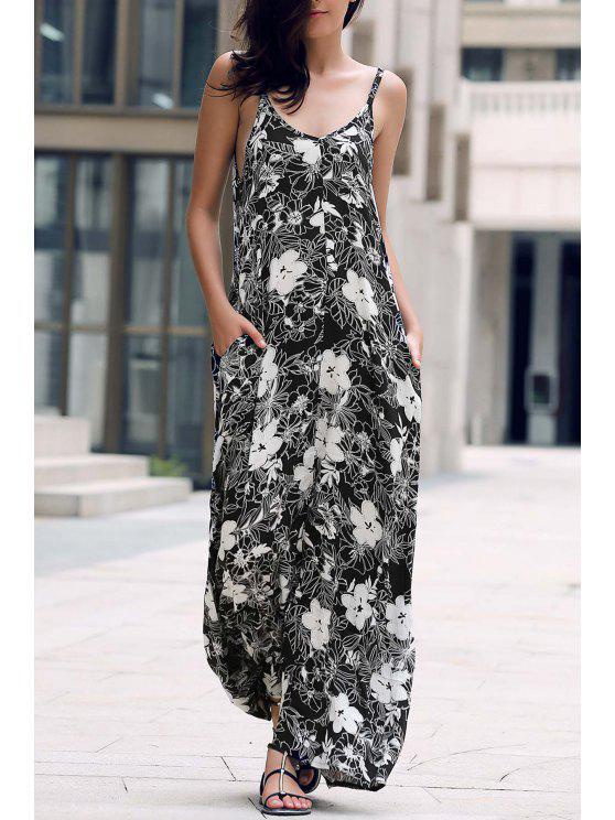 Low Cut Maxi Strap Dress - Noir Taille Unique(S'adap