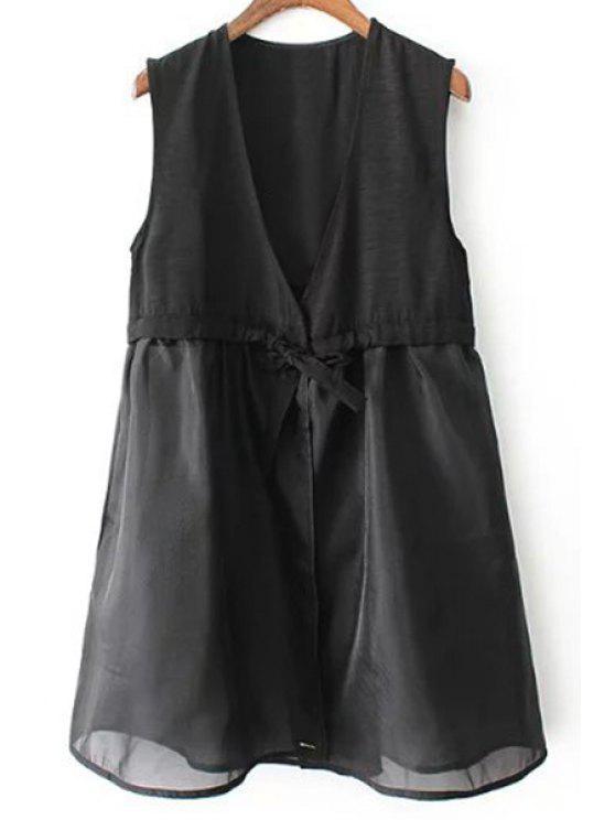 Vestido negro con chaleco