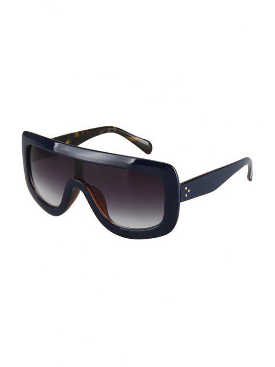 Profunda del partido azul del leopardo del abrigo de las gafas de sol - Marina de Guerra