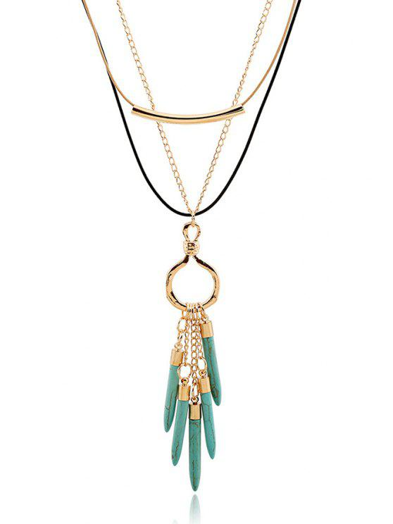 Bullet Pendentif Collier multicouches - Or