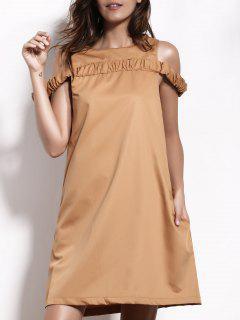 Vestido De Cambio De La Joya Del Cuello Del Camello - Camello S