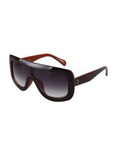 Two Color Match Wrap Sunglasses - Coffee