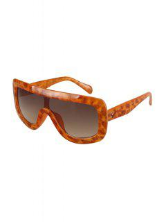 Leopard Wrap Sunglasses - Earthy