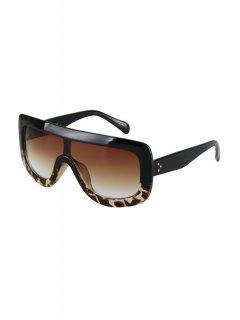 Negras Del Partido Del Leopardo Del Abrigo De Las Gafas De Sol - Negro