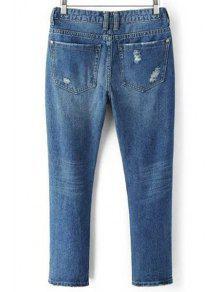 zerrissene taschen gebleichte jeans denim blau jeans xl zaful. Black Bedroom Furniture Sets. Home Design Ideas