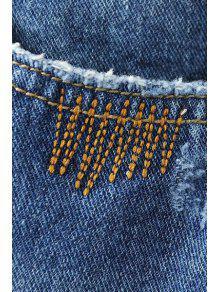 zerrissene taschen gebleichte jeans denim blau jeans xl. Black Bedroom Furniture Sets. Home Design Ideas