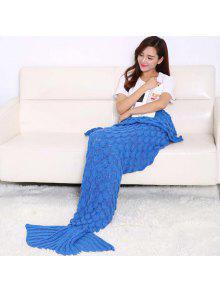 الأسماك تصميم مقياس الحياكة كيس النوم حورية البحر بطانية - الأزرق الملكي