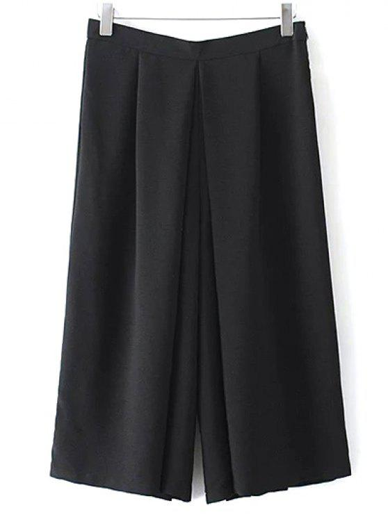 Wide Leg Noir Shorts - Noir M
