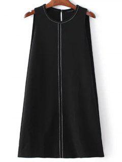 Robe A-ligne Sans Manche - Noir S