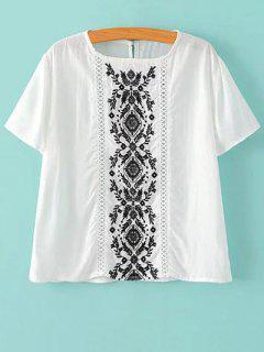 Bordado Camiseta Blanca - Blanco S