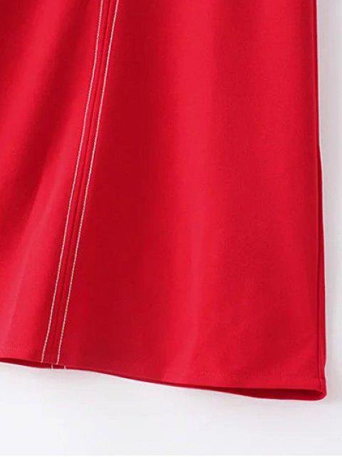 online Sleeveless A-Line Dress - BLACK M Mobile