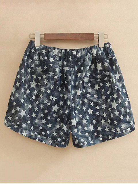 outfits Pentagram Print Drawstring Shorts - COLORMIX 3XL Mobile