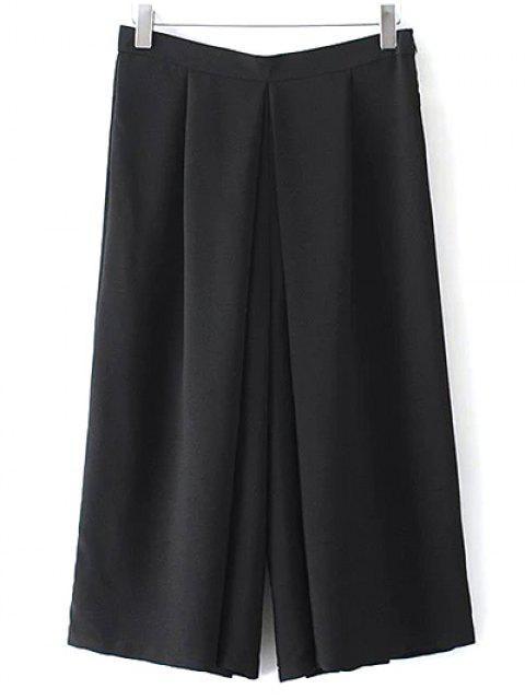 Wide Leg Noir Shorts - Noir M Mobile