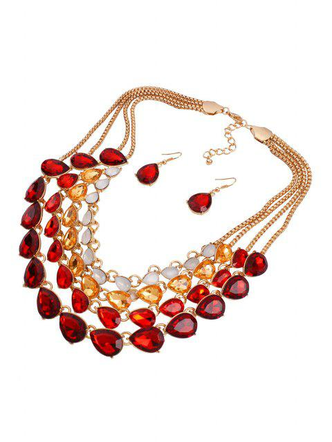 online Multilayered Jewelry Necklace and Earrings -   Mobile
