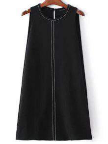 Sleeveless A-Line Dress - Black M