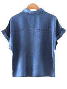 Se De Cruz Alta De Bolsillos De Cintura Camiseta La De Corta La Manga Una Y L Camisa 243; Cuello wwq6f7P