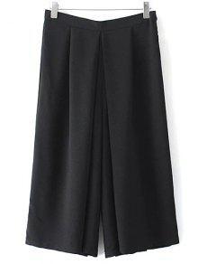Wide Leg Noir Shorts - Noir M