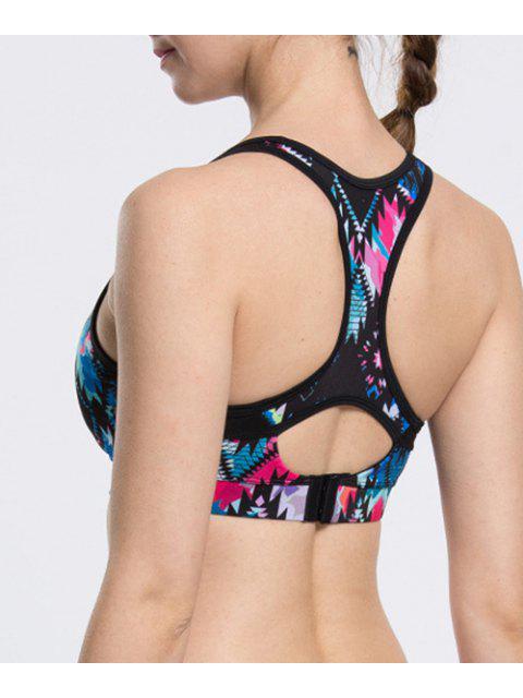 Élégant U-Neck Colorful Bra Sport pour les femmes - Multicolore L Mobile