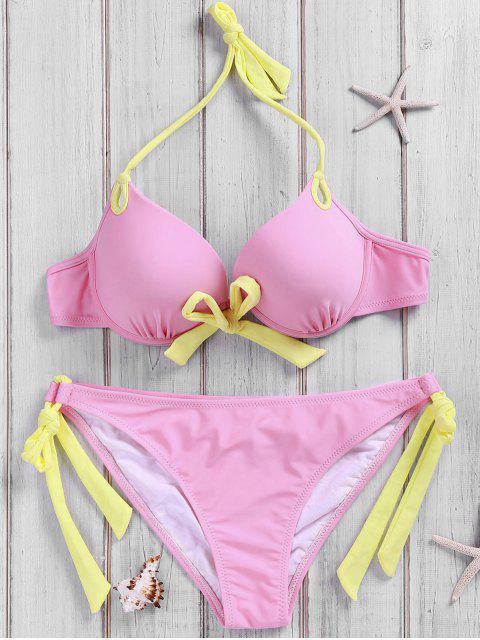 Side-Tie-Rosa-Bikini-Satz - Pink S Mobile