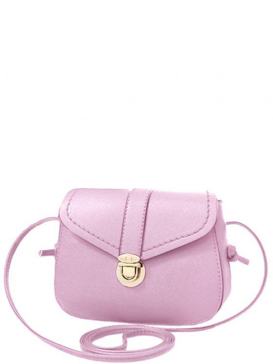 Color sólido Push-bolso de Crossbody - Rosa