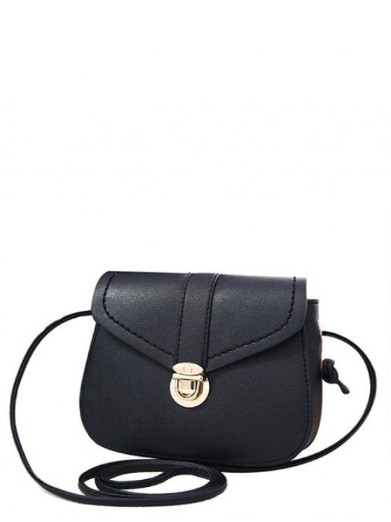 5925dfd6e048 24% OFF  2019 Solid Color Push Lock Crossbody Bag In BLACK