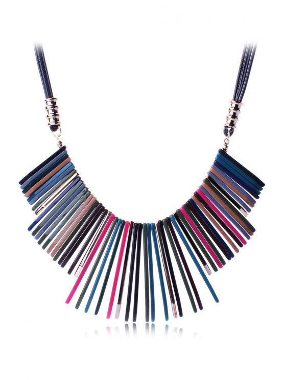 outfit Multicolor Geometric Resin Necklace - BLACK