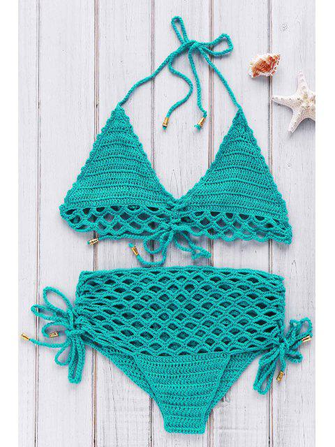 outfits High-Rise Crochet Bikini Set - GREEN ONE SIZE(FIT SIZE XS TO M) Mobile