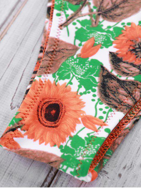 best Printed Crocheted Bikini Set - YELLOW M Mobile