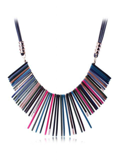 outfit Multicolor Geometric Resin Necklace -   Mobile