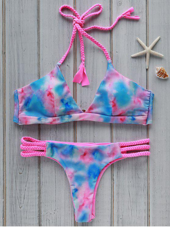 Tie Dye Halter Bikini Set - Cor Mistura L