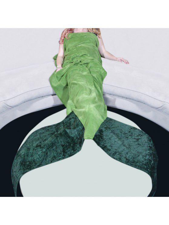 حار بيع مريحة الفانيلا حورية البحر ذيل شكل بطانية - أخضر
