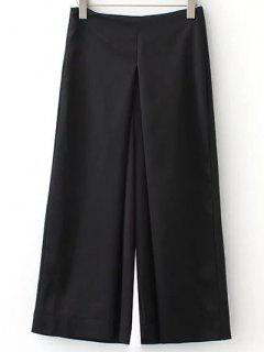 Solid Color Culotte - Black S