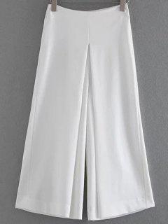 Solid Color Culotte - White S