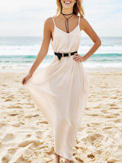 Pure Color Cami Maxi Dress - Apricot M