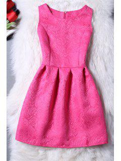 Mini-robe Jacquard Sans Manches - Rose Xl