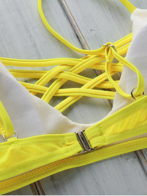 women's Criss Cross Cami Floral Bikini Set - COLORMIX S Mobile