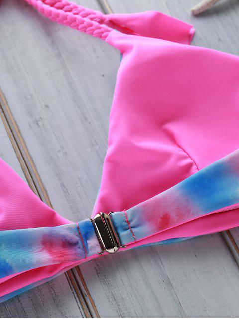 women Tie Dye Halter Bikini Set - COLORMIX L Mobile