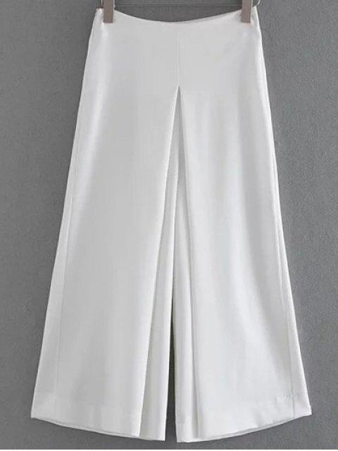 sale Solid Color Culotte - WHITE L Mobile