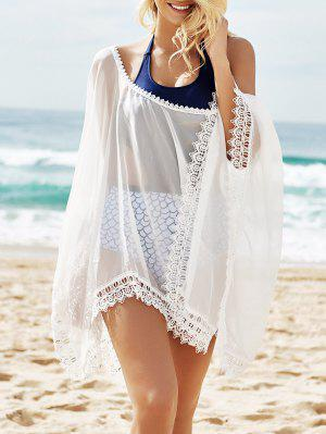 See-Through Lace Edging Half Sleeve Cover-Up
