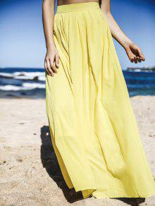 Yellow High Waisted Maxi Skirt YELLOW: Skirts S | ZAFUL