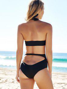 a95f22f1c08a7 9% OFF  2019 Cutout Black Bandage One-Piece Swimwear In BLACK S