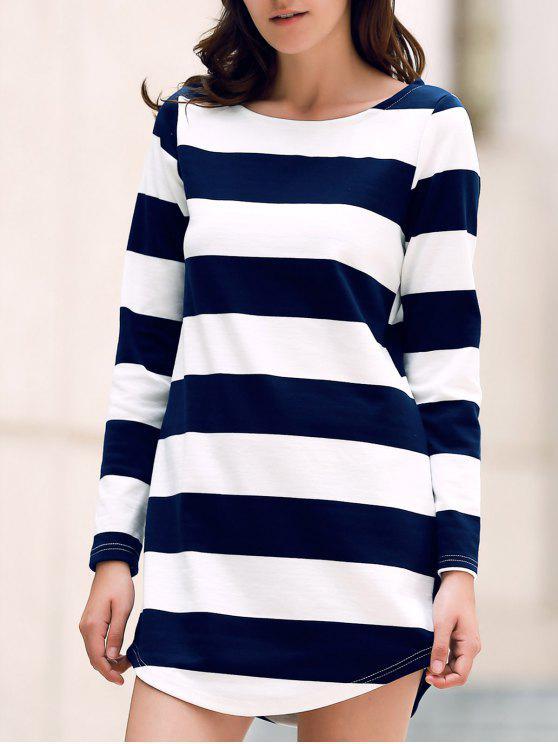 Vestido Banda de manga larga de cuello redondo - Colormix L