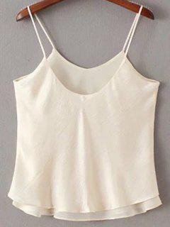 Double-Layered Camisole Top - Off-white S