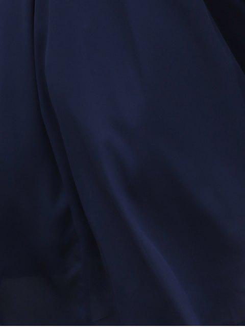 online Black Lace Splicing Cami Dress - PURPLISH BLUE M Mobile