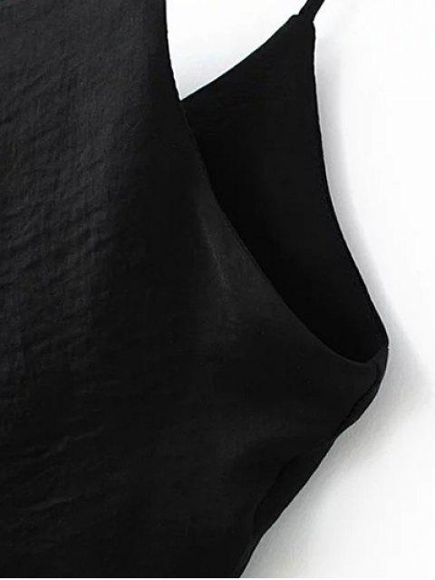 fashion Double-Layered Camisole Top - BLACK M Mobile