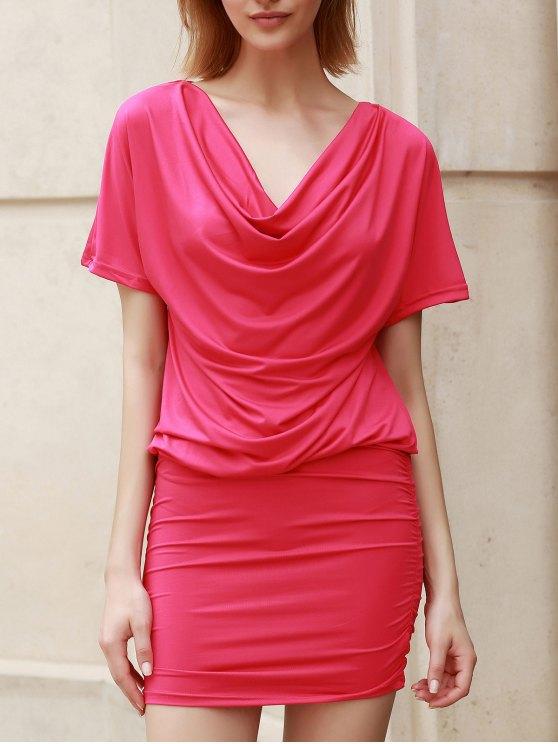 فستان ضيق نسائي قصيرة الأكمام - ارتفع XL