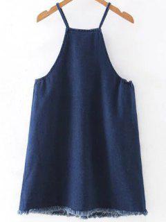 Deep Blue Cami Denim Dress - Deep Blue S