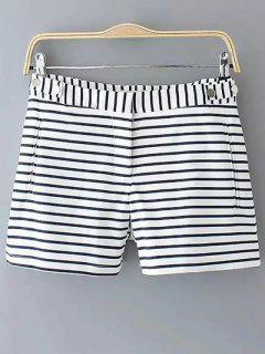 Striped Straight Leg Shorts - Stripe S