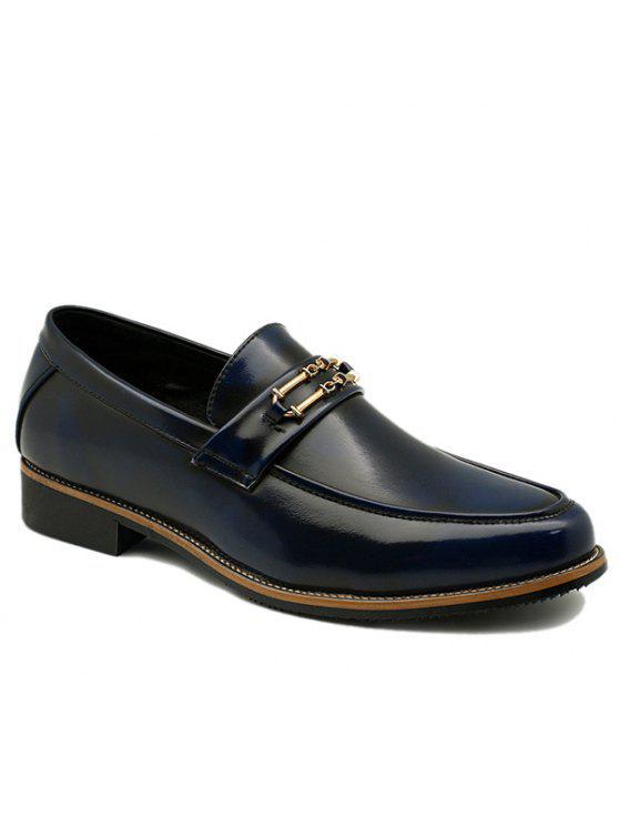 خمر المعادن و الانزلاق على تصميم أحذية رسمية للرجال - أزرق 41