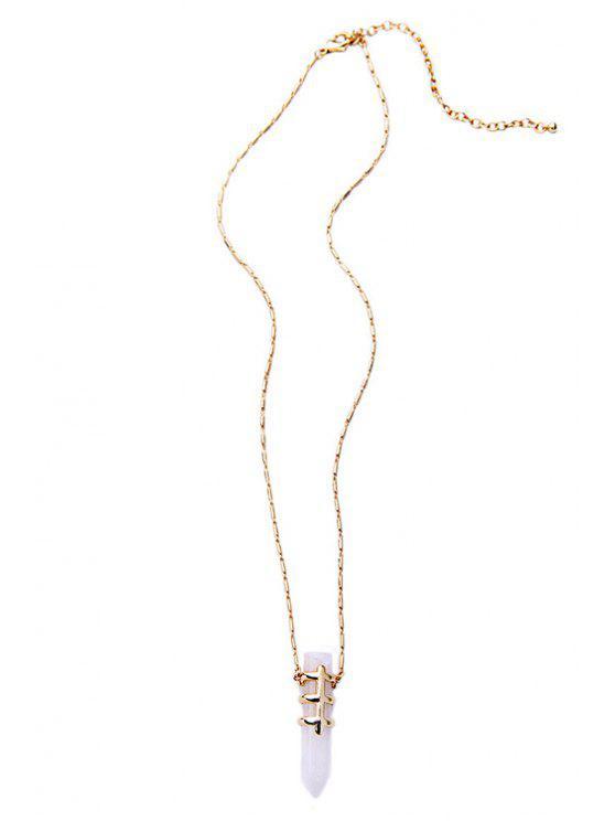new Bullet Shape Pendant Necklace - WHITE